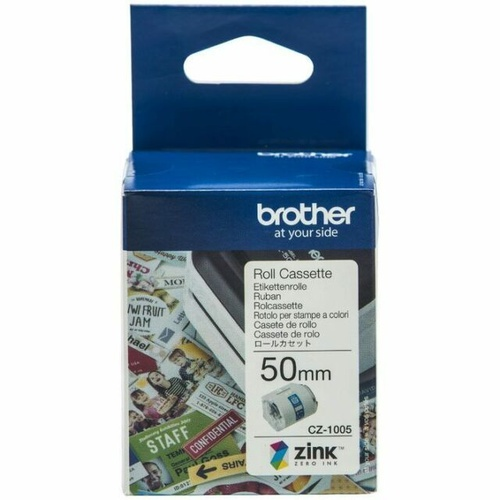 Brother 50mmx5m white label roll