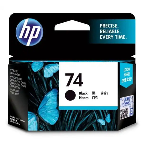 HP #74 Black Ink - 220 pages