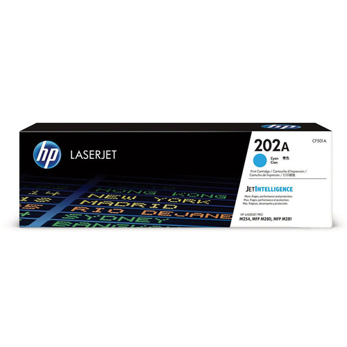 HP CF501A #202A Cyan Toner - 1,300 pages