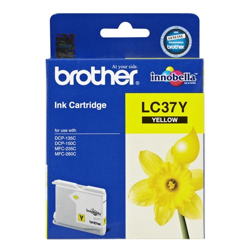 Brother LC37 Yellow Ink - 300 yield