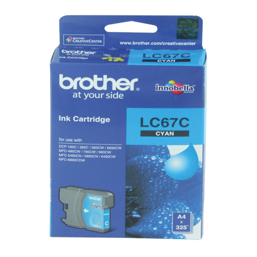 Brother LC67 Cyan Ink - 325 yield