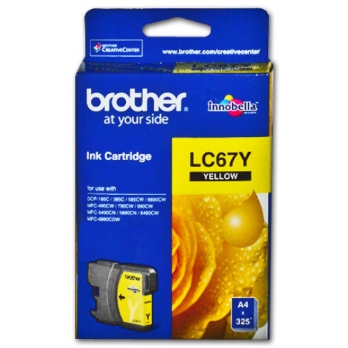 Brother LC67 Yellow Ink - 325 yield