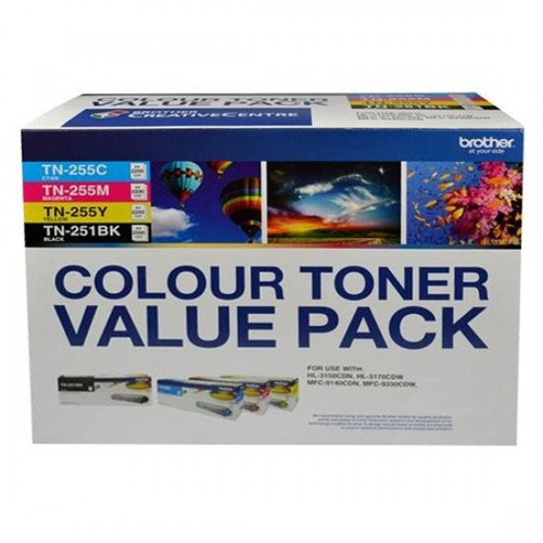 Brother TN251/TN255 Colour Value 4 Pack