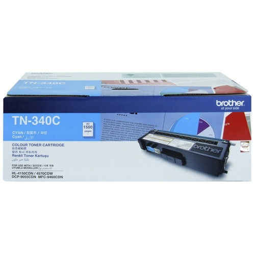 Brother TN340 Cyan Toner - 1,500 yield